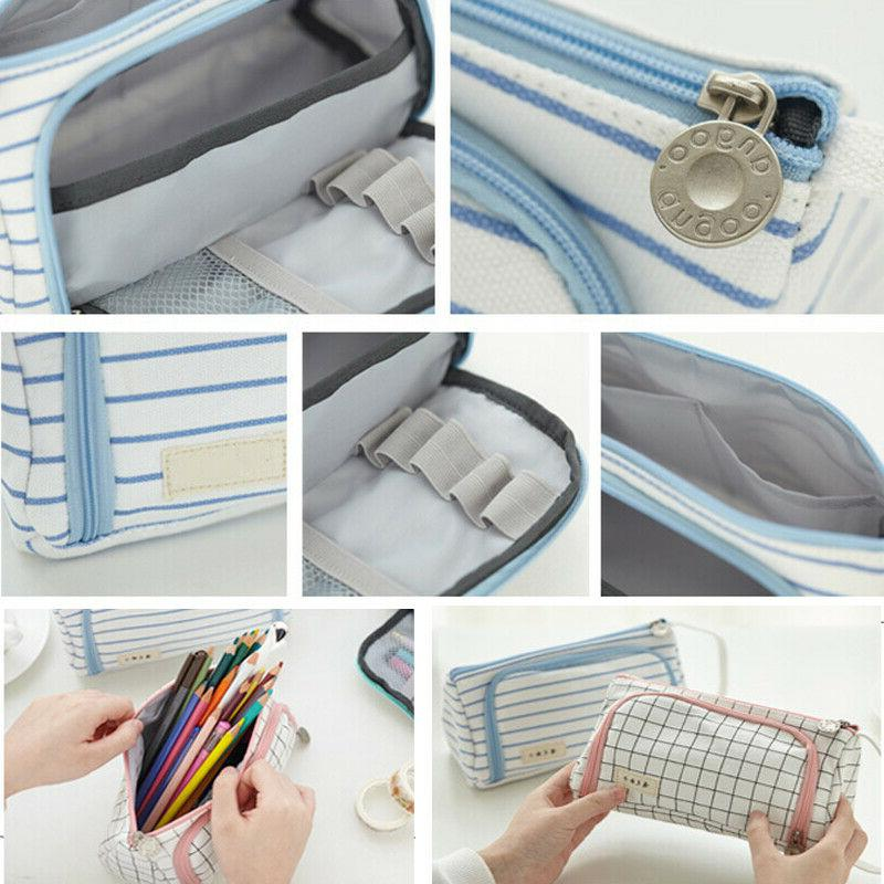 School Student Box Stationery Pen Bag UP Bags