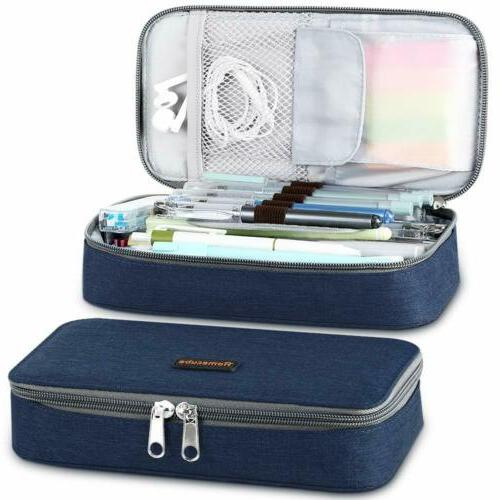Large Capacity Pencil Case School Pen Box Makeup Pouch Desk
