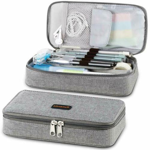 PENCIL CASE MAKEUP ORGANIZER SCHOOL BOY GIRL TEENS STATIONER