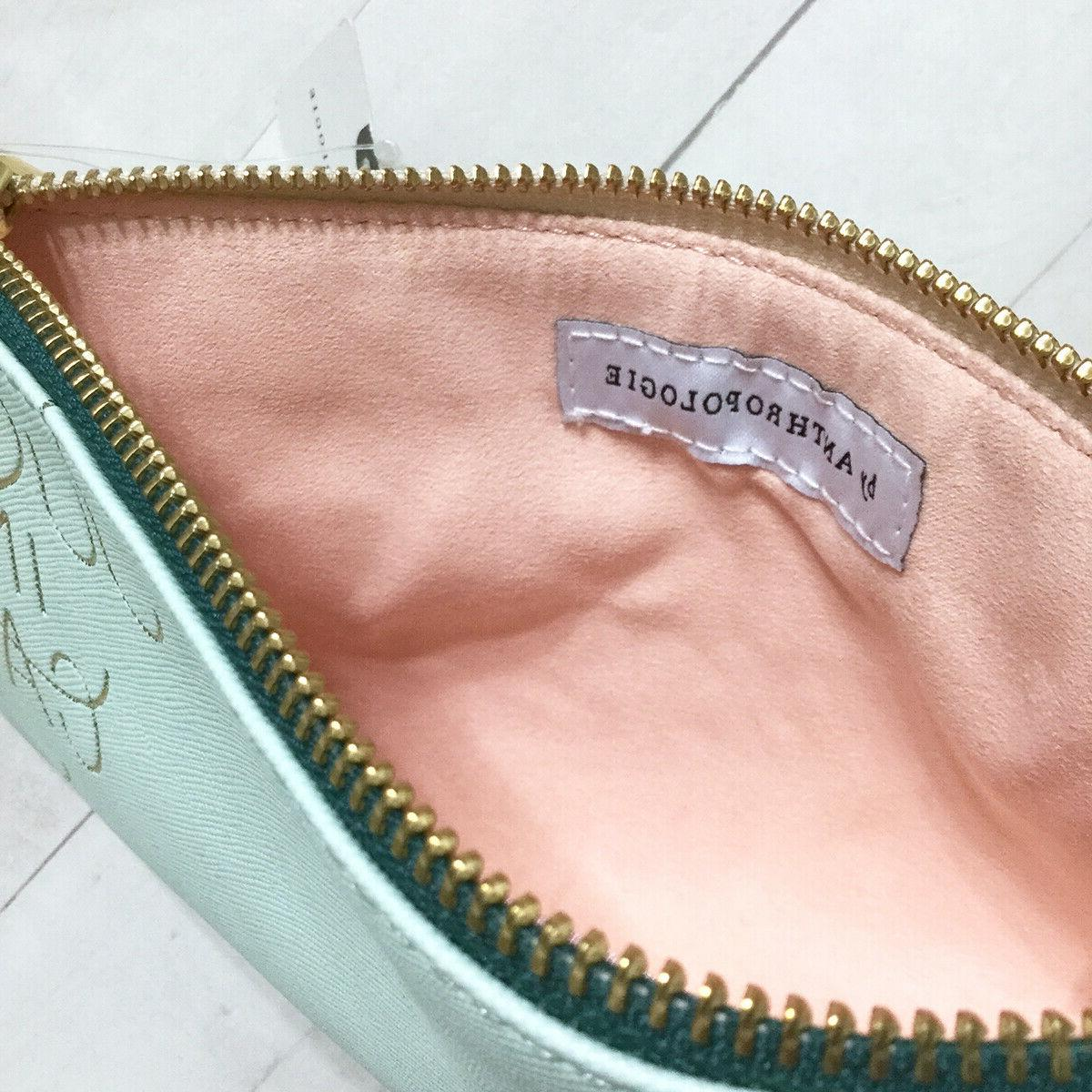 Anthropologie Zip Cosmetic Sea Leather