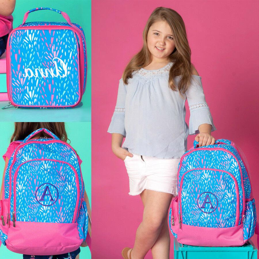 personalized monogram backpack lunch tote or pencil