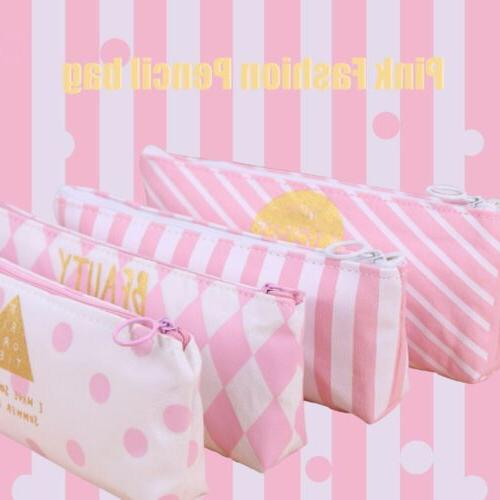 Pink Dot Pencil Case Pen Box