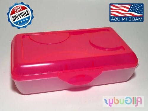 Plastic Box Kids Office PINK