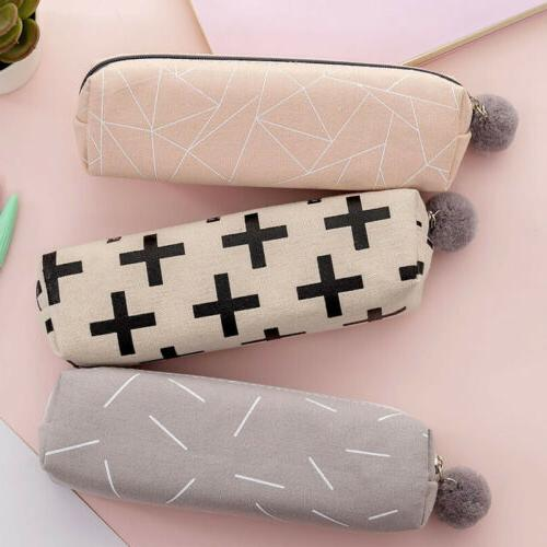 Cute Girls Ball Pencil Case Cosmetic Bag Stationery Gifts