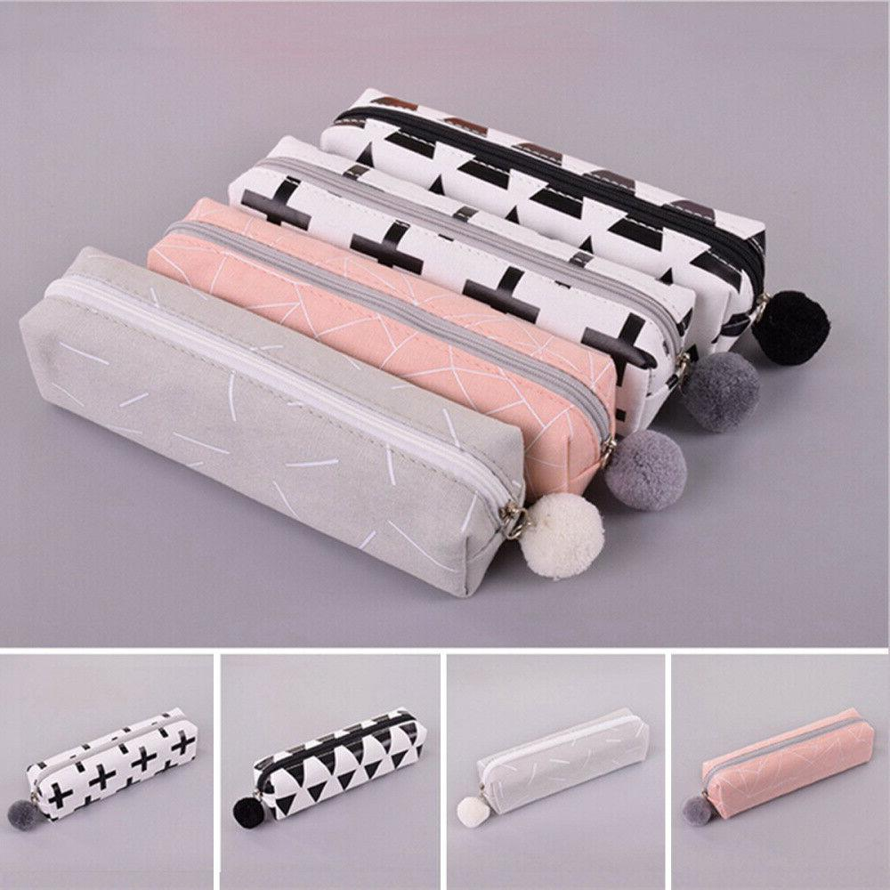 Pencil Case Canvas School Student Cute Creative Stationery S