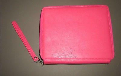 portable pink pu leather 120 capacity pencil