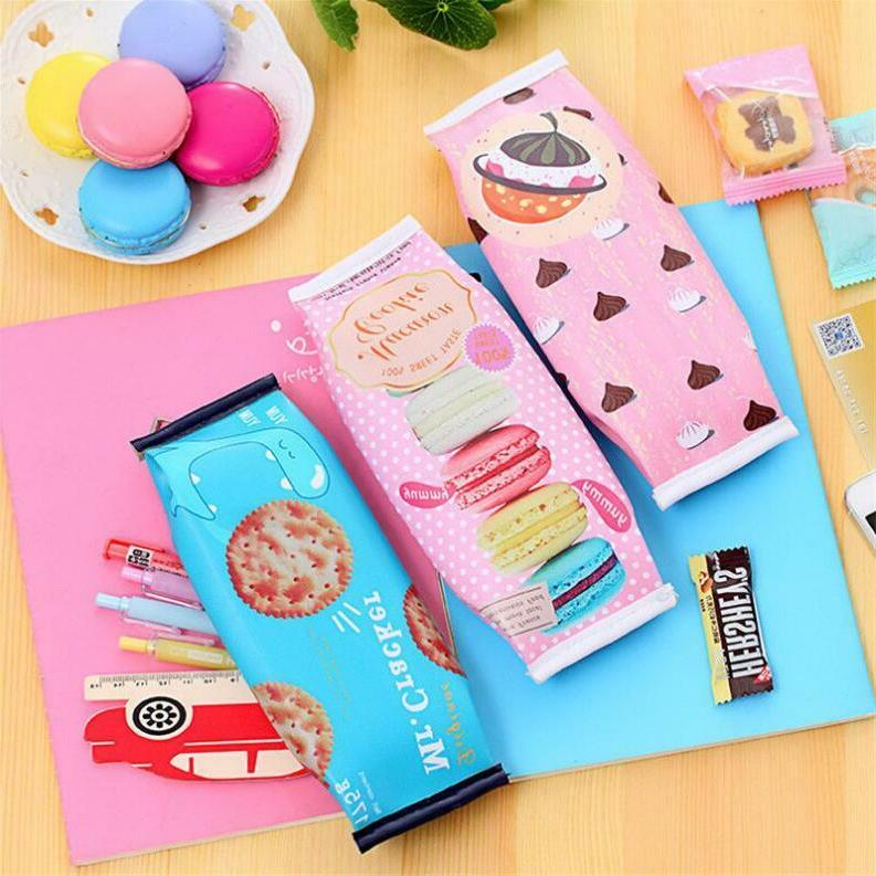 PU Creative Milk Cartons Pencil Case Kawaii Stationery Pouch