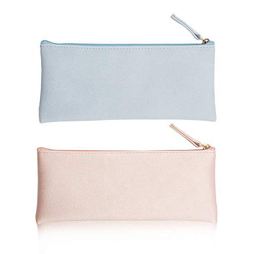 pu leather pencil cases pouch
