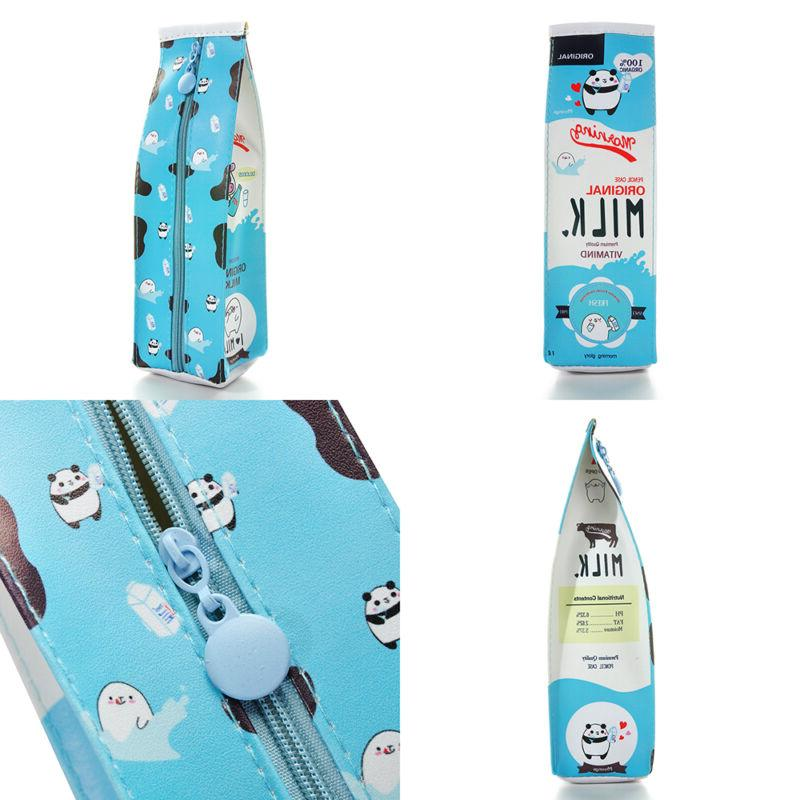 PU Simulation Milk Cartons Pencil Stationery