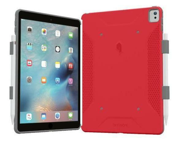 For iPad Pro 9.7 Poetic  w/Pencil Holder Case Cover Red
