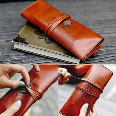 Retro Leather Make Holder Pouch