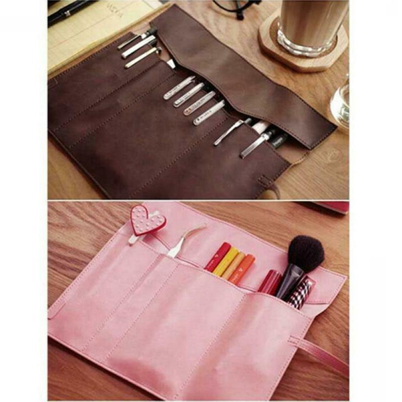 Roll Leather Organizer Case Cosmetic