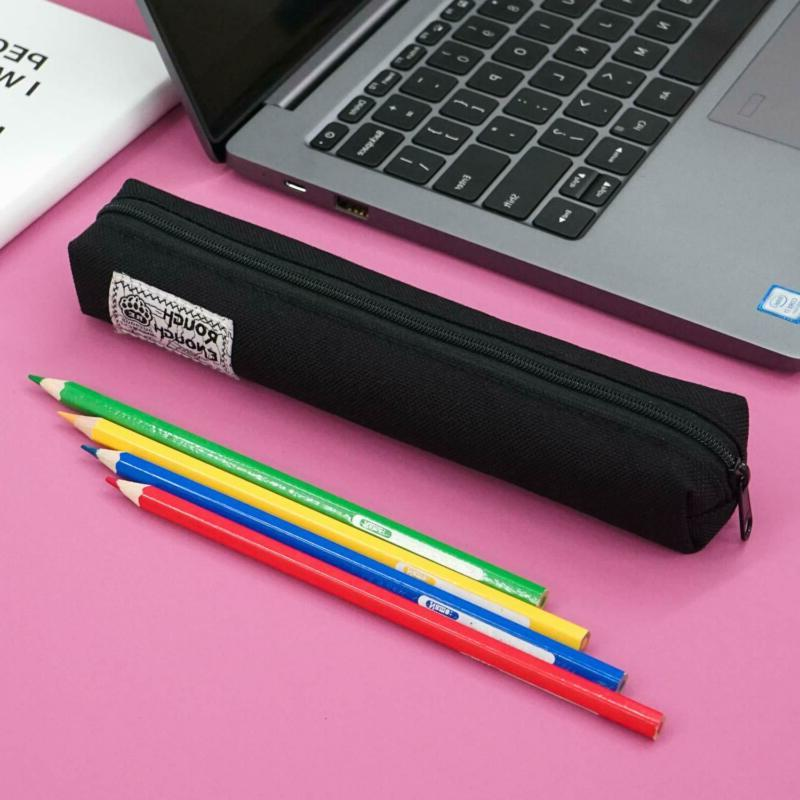 Rough Enough Small Slim Cute Pencil Pouch Pen Holder Organizer Bag