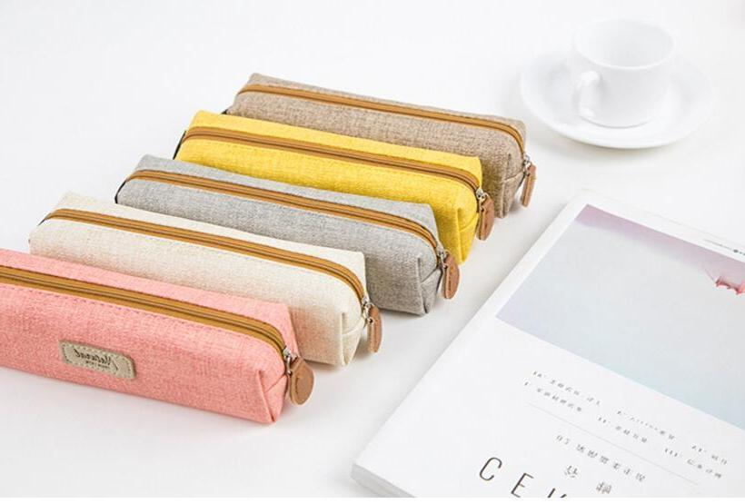 Simple Pen Bag Pouch Brush Makeup Bag