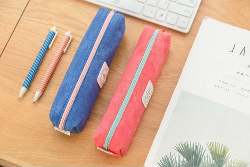 Simple Style Case Pen Bag Box Cosmetic Pouch Bag