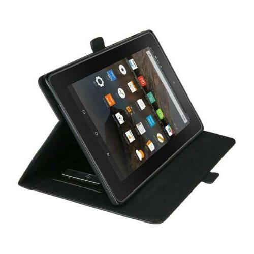 Smart Leather Cover with Amazon Kindle Fire7 2017 2019