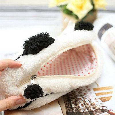 Soft Cute Plush Cosmetic Makeup Pen Pencil Pouch RS