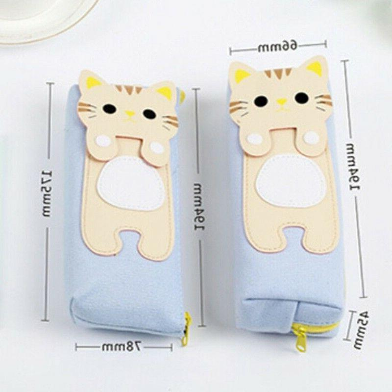 Stationery Pouch Makeup Cat Pencil Case Cosmetic