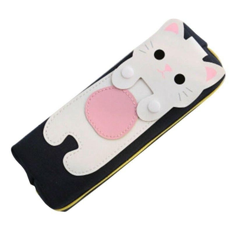 Stationery Girl Pouch Makeup Pen Cute Cat Pencil Cosmetic Bag