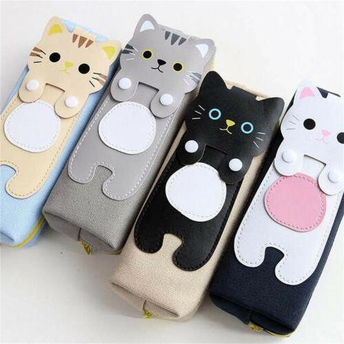 Stationery For Women Pouch Makeup Pen Cute Cat Pencil Case C
