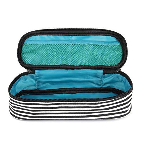 JEMIA - Pencil Case White Pockets Within to Hold Office in Oraganized Student; Men, Women,
