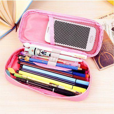 Student Canvas Pen Makeup Bags