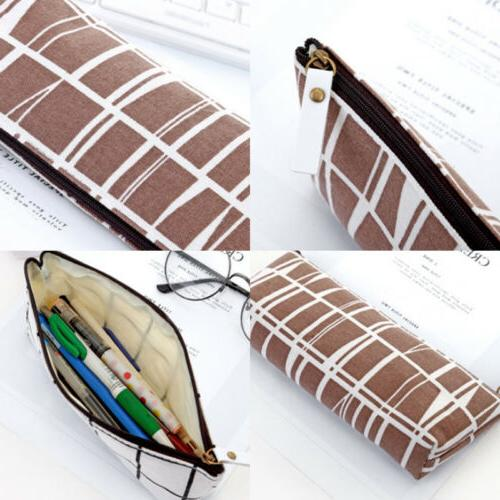 Chic Canvas Pencil Bag Pouch Stationery School Gift
