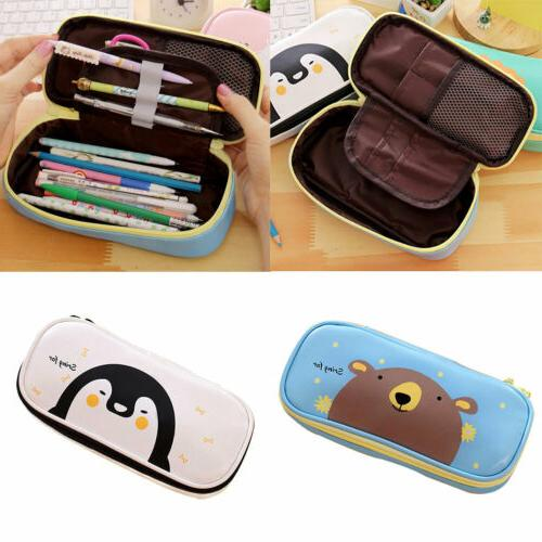 Cute Pencil Case Pen Pouch Box Bag Cases School Office Suppl
