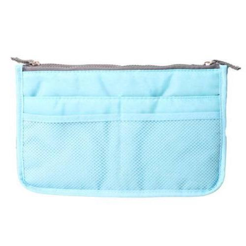Travel Cosmetic Pencil Organizer Zipper Makeup Bag