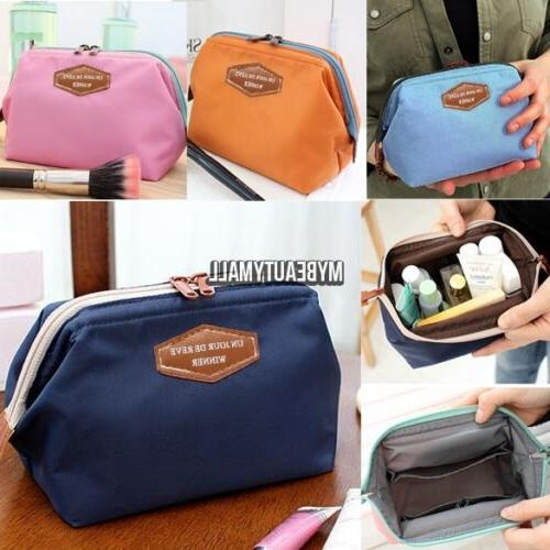 Travel Fabric Cosmetic Bag Pencil Case Pouch Purse Handbag