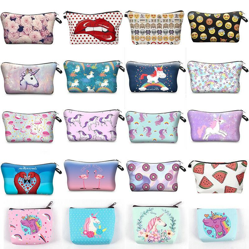 UNICORN MAKE UP BAG School Pencil Case Cute Cosmetic Travel