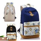 US Floral Printing College Backpack Girls School Bag Teens R
