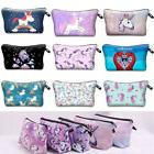 Womens Girls Travel Cosmetic Pencil Case 3D Unicorn Statione