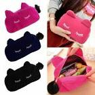Velvet Flannel Cat Cosmetic Makeup Bags Cute Cartoon Storage