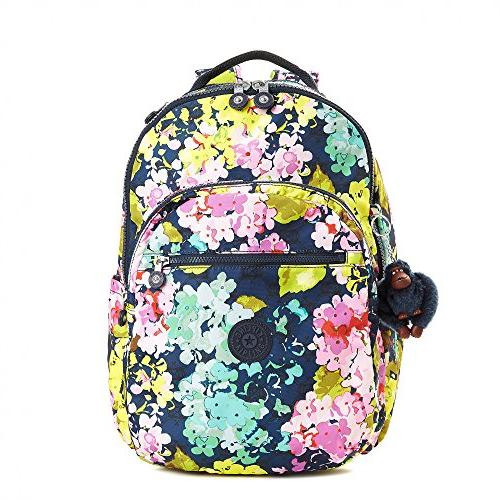 5a5028de71 Kipling Women's Seoul Large Printed Laptop Backpack One