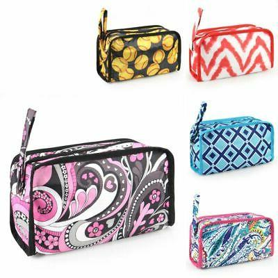 women travel pencil case cosmetic makeup storage