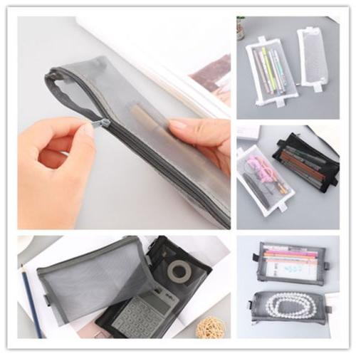 zipper stationery pencil case eyeliner eyeshadow storage