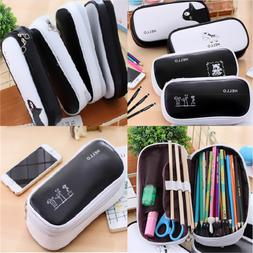 Large Capacity Black Pen Pencil Case Pen Box School Statione