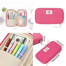 BTSKY LARGE Capacity Stationery Pouch Pencil Case School Sup