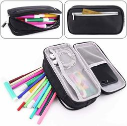 Large Capacity Zip Pencil Case Student Adult Multilayer Long