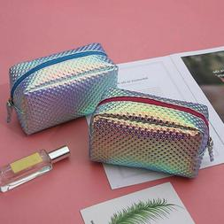 Laser Purse Pencil Case Cosmetics Makeup Bag Holographic Tra