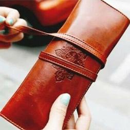 leather holder stationery shell pen pencil organizer