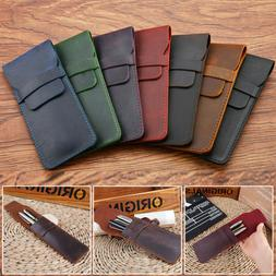 leather pencil fountain pen storage case pouch