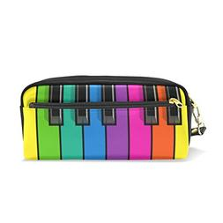 ColourLife Leather Zipper Pencil Case Pencil Holder Pouch Ba
