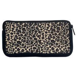 Leopard Animal Print Zippered Pouch Pencil Case Cosmetic Bag