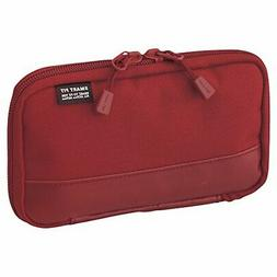LIHIT LAB. Compact Pen Case , Water & Stain Repellent, Red,