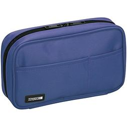 LIHIT LAB Pen Case, 7.9 x 2 x 4.7 inches, Blue