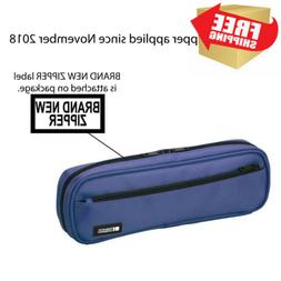 LIHIT LAB Pen Case, 9.4 x 1.8 x 3 inches, Blue