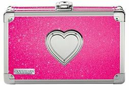 Vaultz Locking Supply Box, 8.5 x 5 x 2.5 Inches, Pink Bling