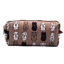 Lucky Japanese Cat Pencil Case Maneki Neko Cat Pencil Bag Po
